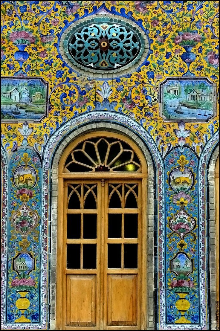 golestan palace, tehran--blue and gold magic