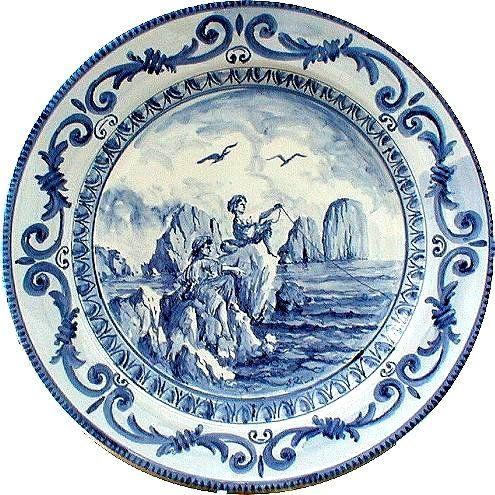 Piatto in ceramica, Marina Piccola, Capri