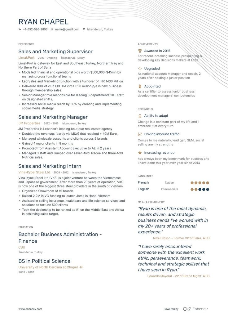 8 sales and marketing resume samples and writing guide