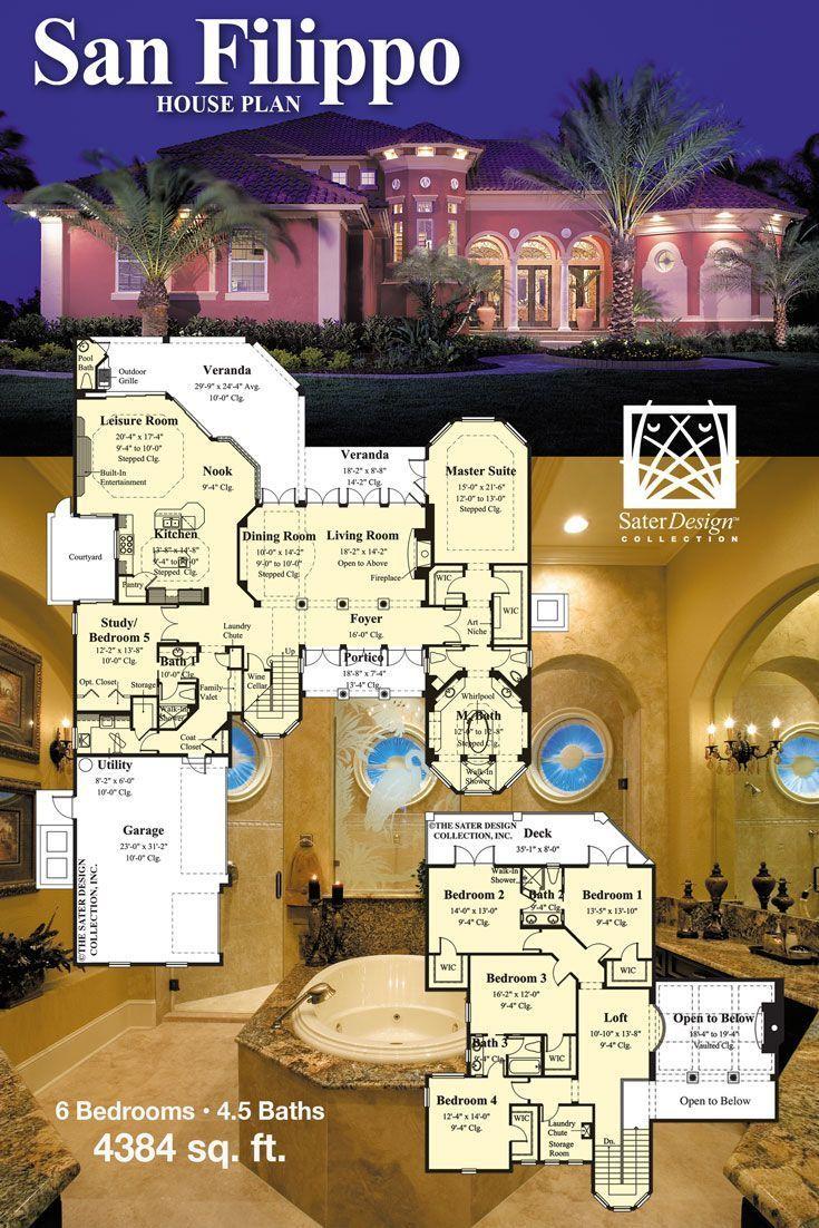 European Home Plans House Plans Sater European House
