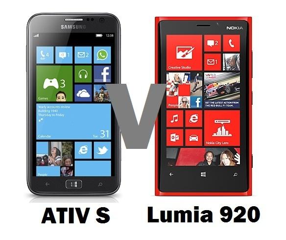 Samsung Ativ S Versus Nokia Lumia 920