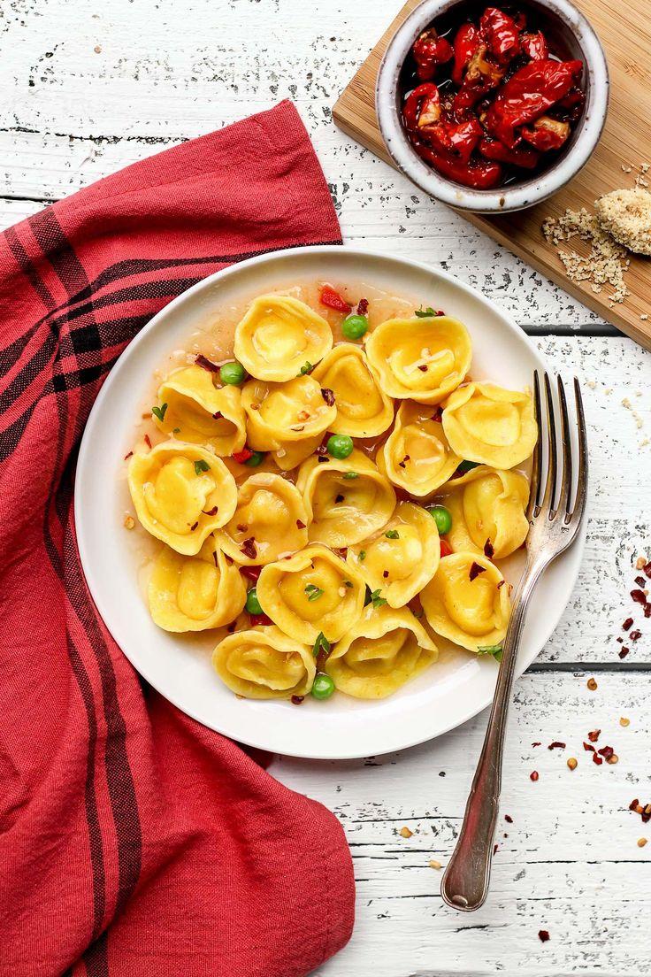 Vegan Cheese and Basil Tortellini gluten free