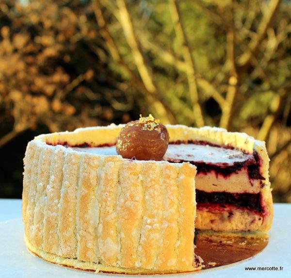 Charlotte marrons myrtilles, le biscuit à la cuillère, Meilleur Pâtissier M6