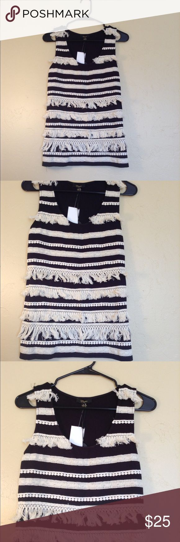 ❤️Cupio Fringe Tank❤️ New with tags! Size small. Fringe tank! Cute with leggings or jeans! Cupio Tops Tank Tops