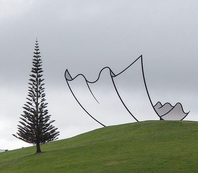 'Horizons' by Neil Dawson at Gibbs Farm in NZ