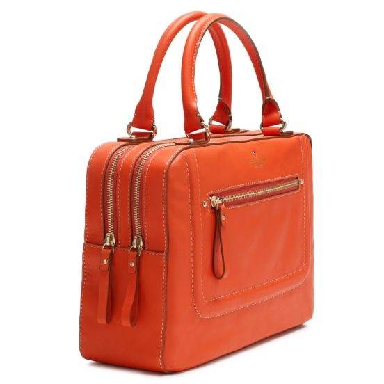 Love this great orange structured bag!
