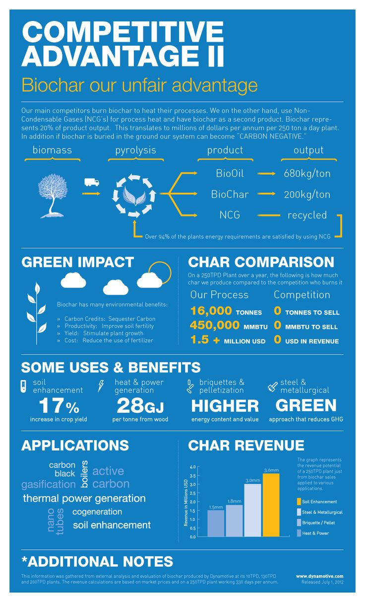 New Infographic shows why our Biochar gives us an unfair advantage over competitors
