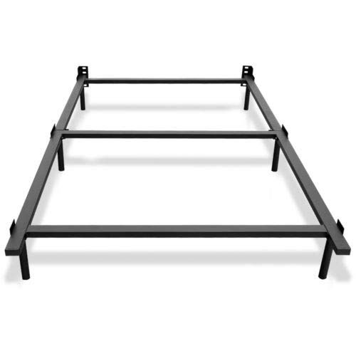 Fdinspiration Black Twin Size Center Support Folding Metal Bed
