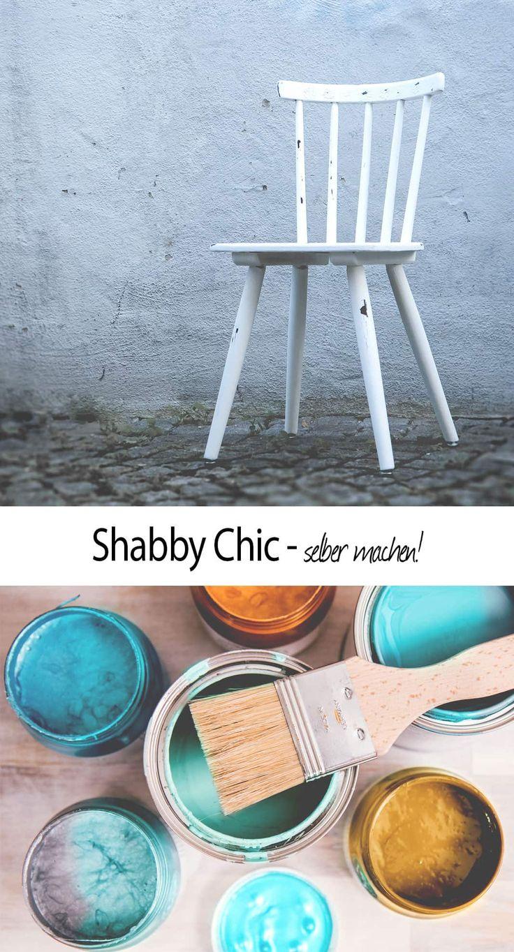 shabby chic m bel selber machen kreidefarbe anwenden und m bel im used look streichen deko. Black Bedroom Furniture Sets. Home Design Ideas