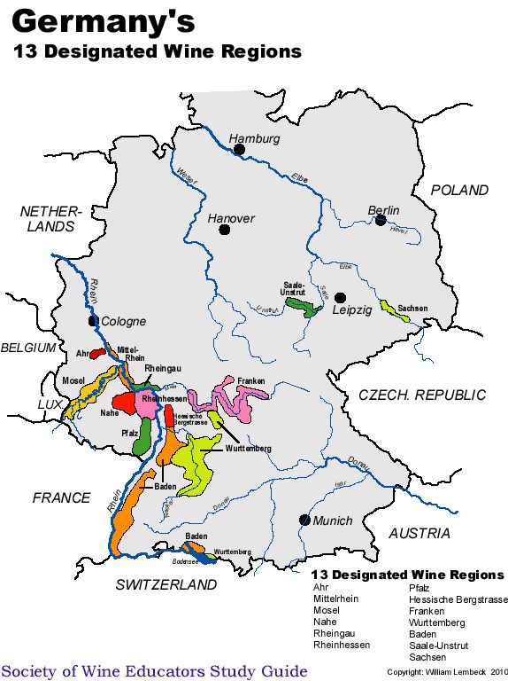 Germany With Images German Wine Germany Wine Map
