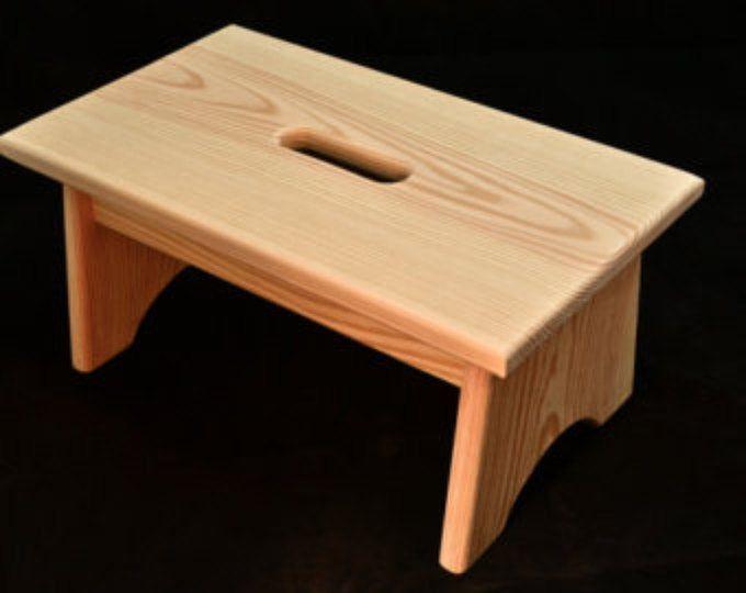 Best Wood Step Stool Unfinished Pine 16 L X 9 W X 7 5 H Wood 400 x 300