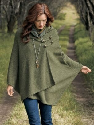 green cape. . . yes, I can see this in crochet!!
