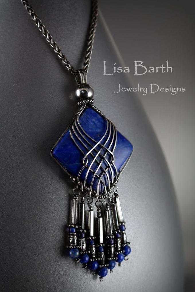 DIY Wire Wrap Pendant Necklace Design
