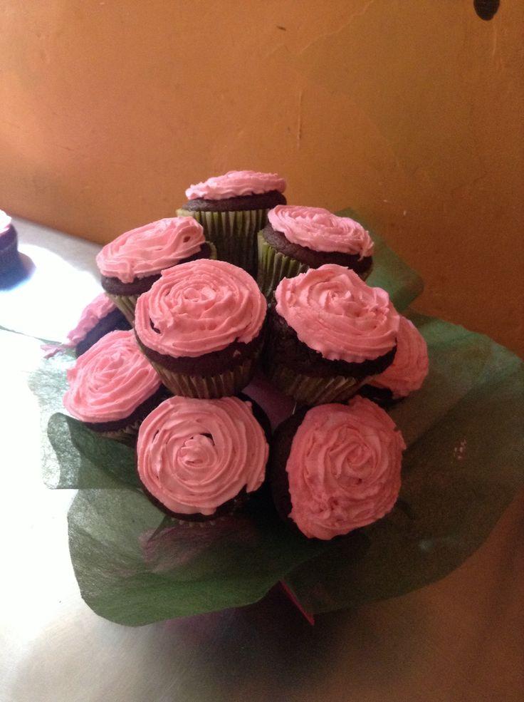 Ramo de rosas cupcakes