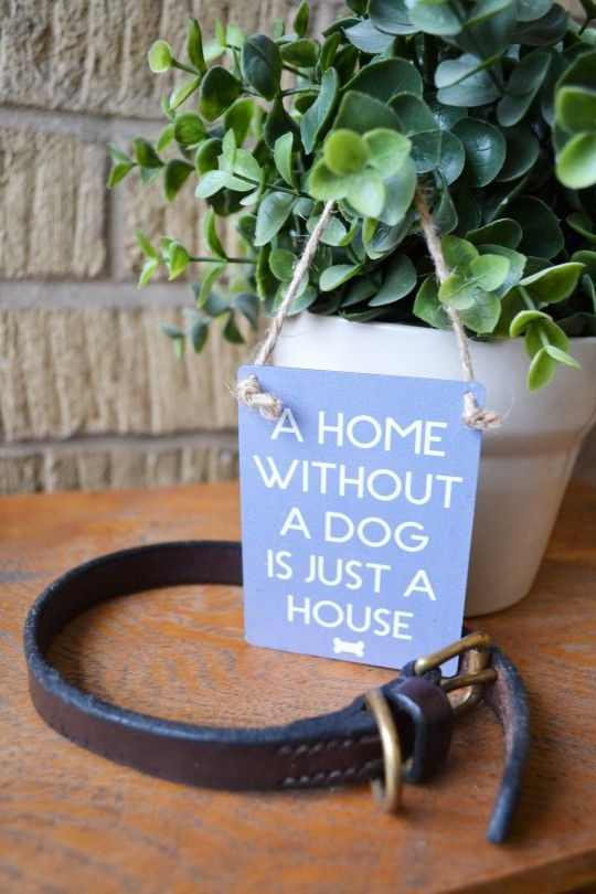 Home Dog Miniature Metal Sign