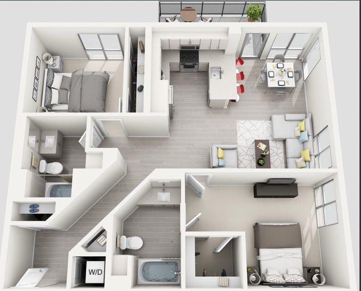 Pin De Kirsten Em La Dream Layout De Apartamento Layout De Um