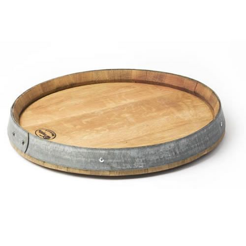 $110.00  Bring home the casual elegance of your favorite winery with this rustic serving board, made from aged oak barrels, each used in wine production for 2 – 5 years.