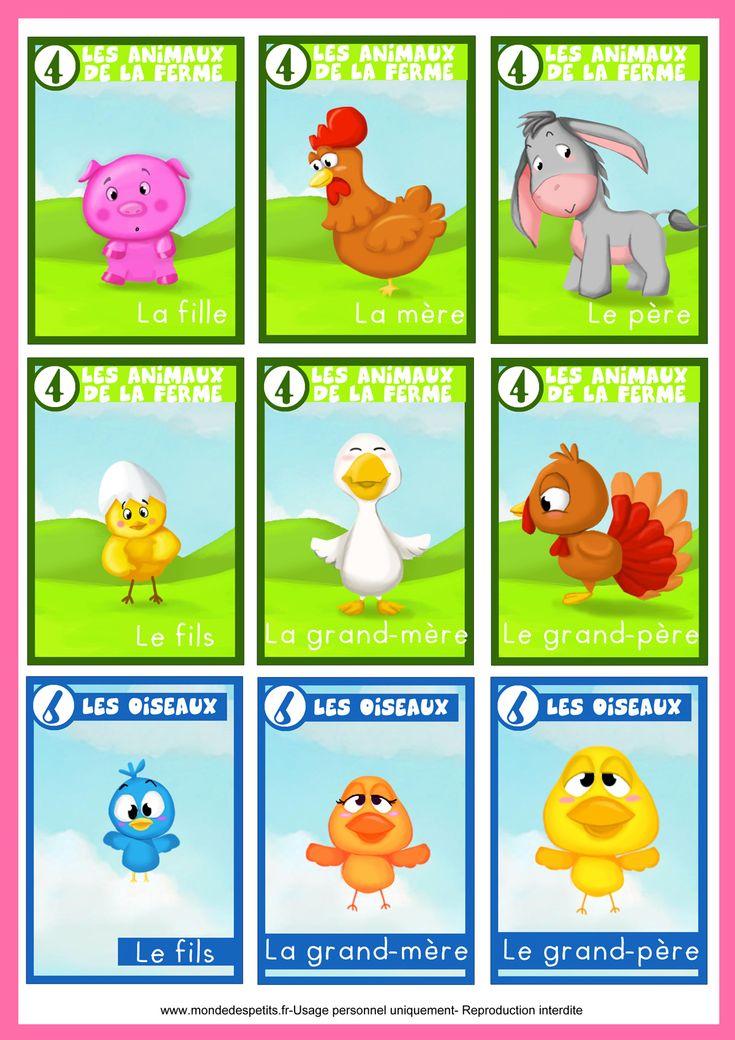 Jeu des 7 familles animaux jeux a imprimer et fabriquer pinterest animaux - Fabriquer jeu de societe ...