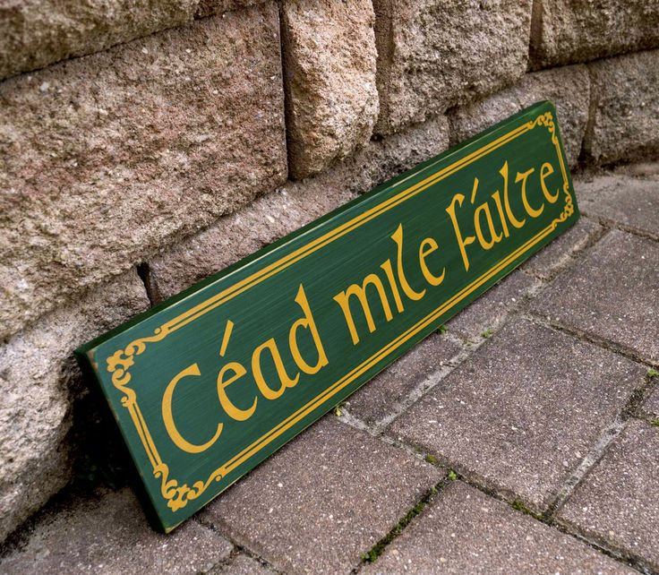 Cead Mile Failte Sign, Irish Sign, Irish Welcome Sign, Pub Sign, Bar Sign, Man Cave Decor, Beer Sign, Hand Painted, Wood Sign by WoodenItBeNice4 on Etsy