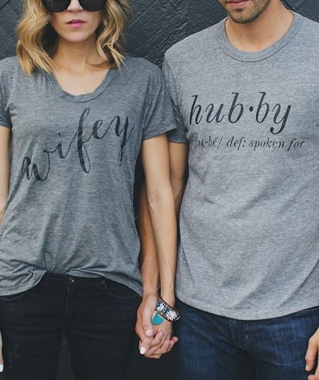 Wifey and Hubby tees