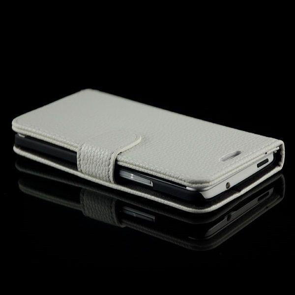 Schutzhülle mit Magnetverschluss für HTC One M7 Weiß