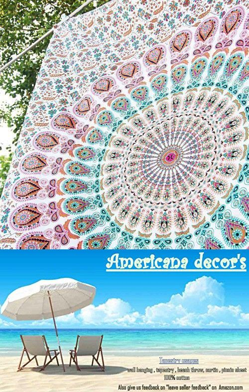 Americana Decor's Hippie Tapestry, Hippy Mandala Bohemian Tapestries, Indian Dorm Decor, Psychedelic Tapestry Wall Hanging Ethnic Decorative With Beautiful Gift