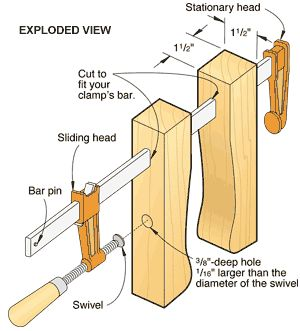 Great idea for extending reach and softening the clamp to avoid denting your workpiece.