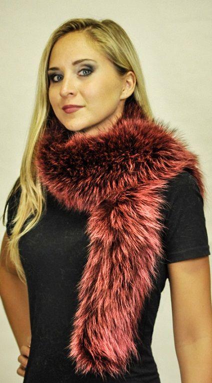 Sciarpa in pelliccia di marmotta colorata   www.amifur.it