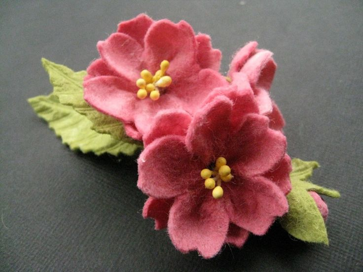 Wool Felt Corsage-Sakura-. $25.00, via Etsy.