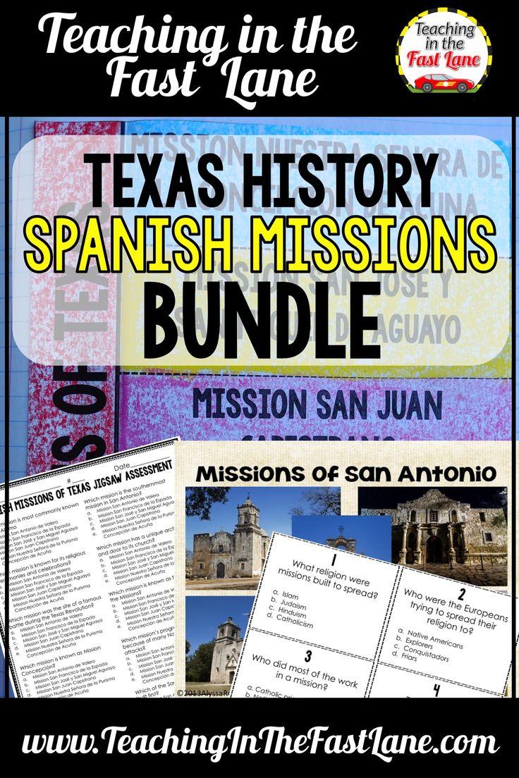 spanish missions of texas bundle texas history texas teacher lesson plans back to school. Black Bedroom Furniture Sets. Home Design Ideas