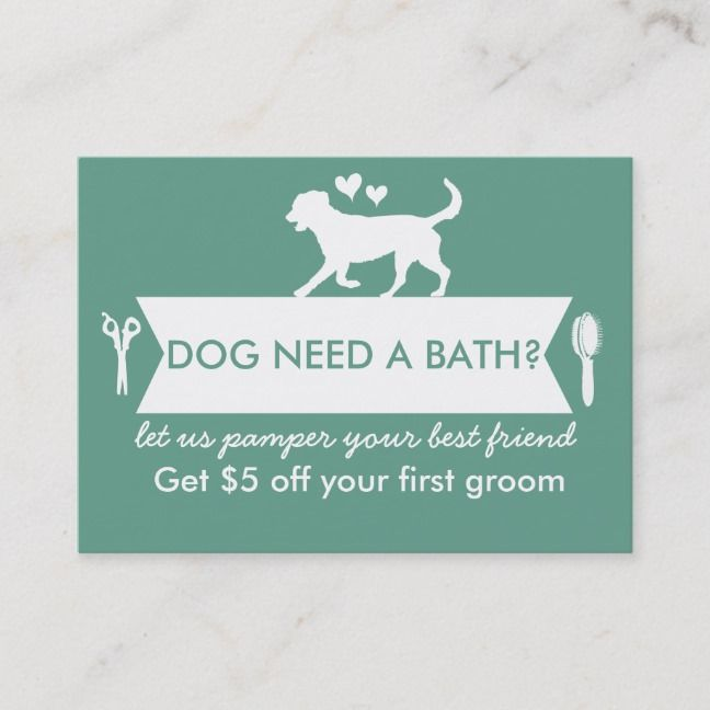 Dog Groomer Business Card Personalizable Dog Groomers Groomer
