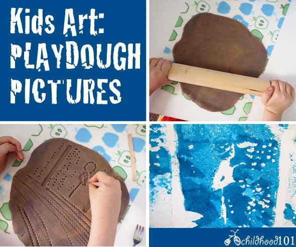 Kids Art Projects: Playdough Pictures | Childhood101
