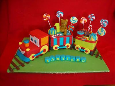 train cake inspiration for 3rd birthday