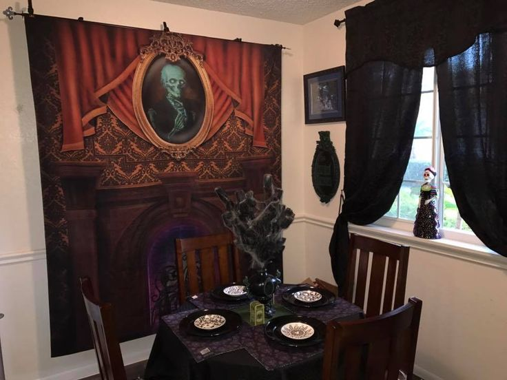 17 best images about haunted mansion on pinterest for Haunted dining room ideas