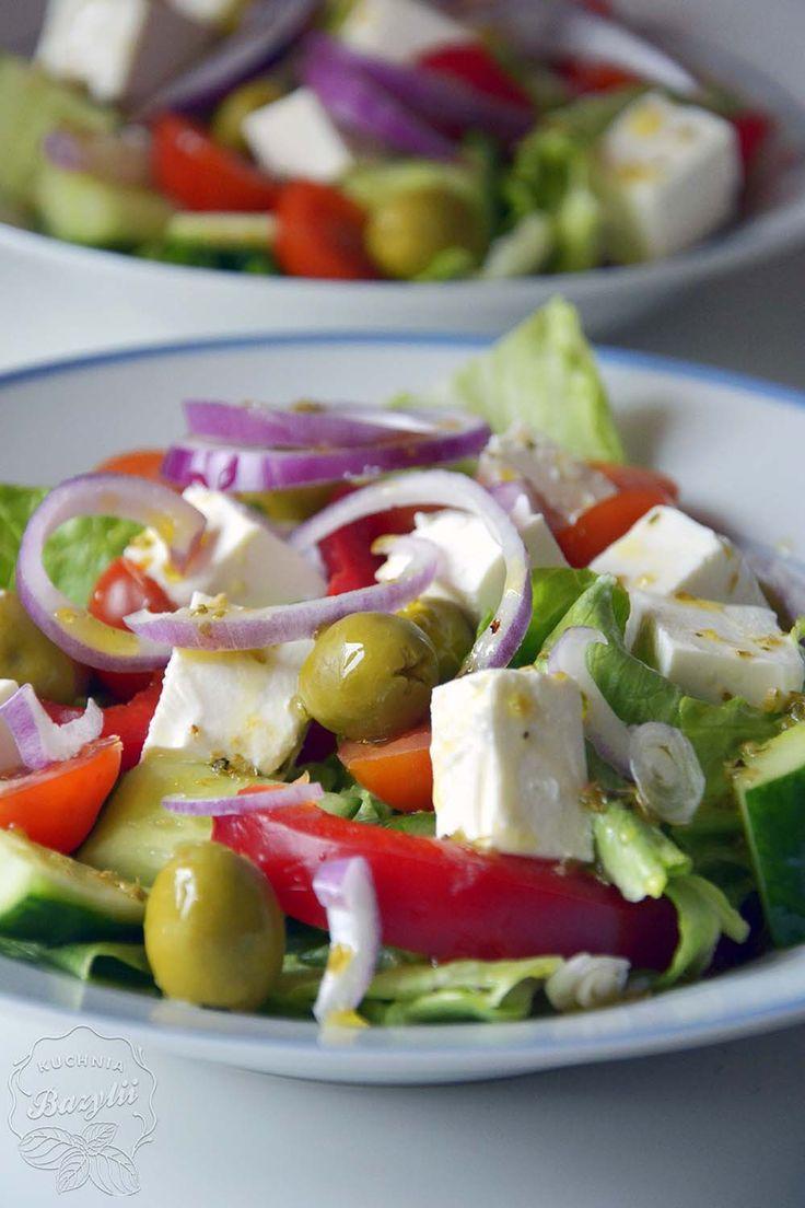 Sałatka grecka   Kuchnia Bazylii