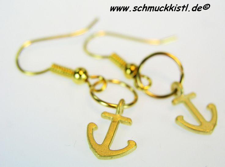 Ohrringe Anker vergoldet von Schmuckkistl auf DaWanda.com