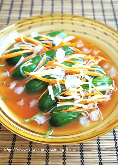 夏野菜で作るオイキムチ風きゅうりの漬物 by Runeさん | レシピブログ ...