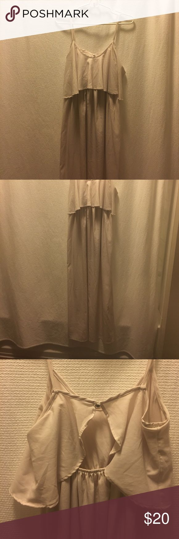 Cream Maxi Dress Boho Bride Ethereal maxi dress, cream, with key hole back. Thin half lining for the skirt part. You will probably want to add a slip or something. Unsized but purchased from boutique as medium. Dresses Maxi