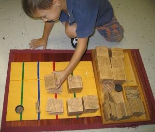 A Montessori Classroom: The Bank Game