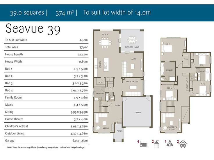 Floor Plan Of Seavue 39 Double Storey House Dream Home