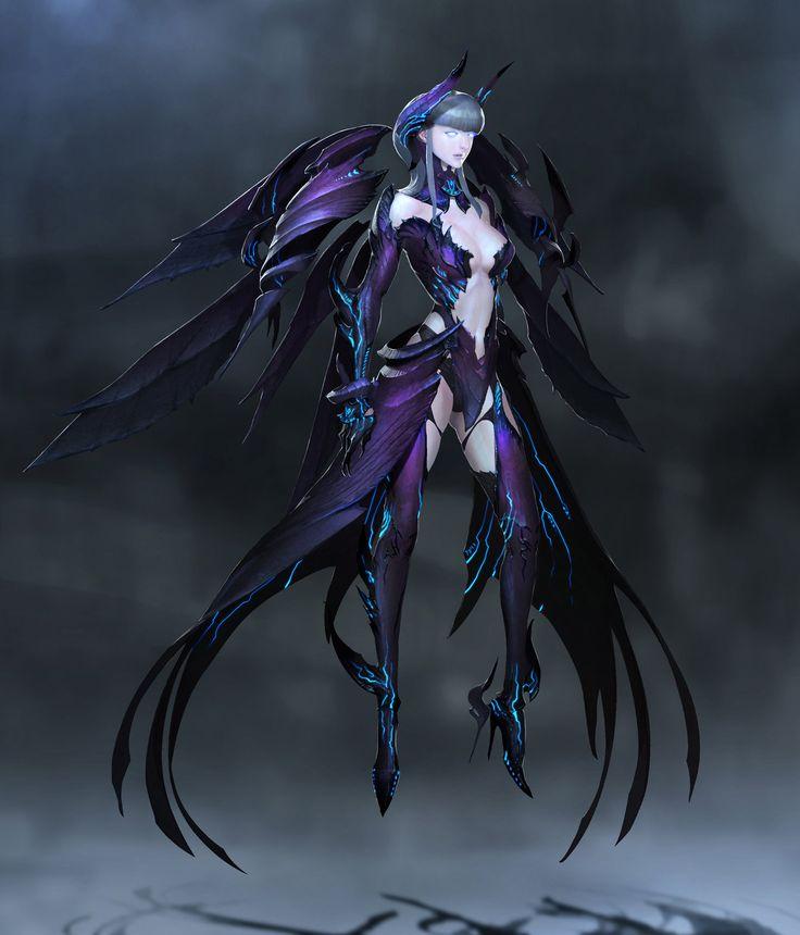 "Project ""Acheron"" Fallen angel, Chang-youl Park on ArtStation at http://www.artstation.com/artwork/character-design-a3c07eff-6a1c-4ac1-bc25-c1cfd0d2ba13"