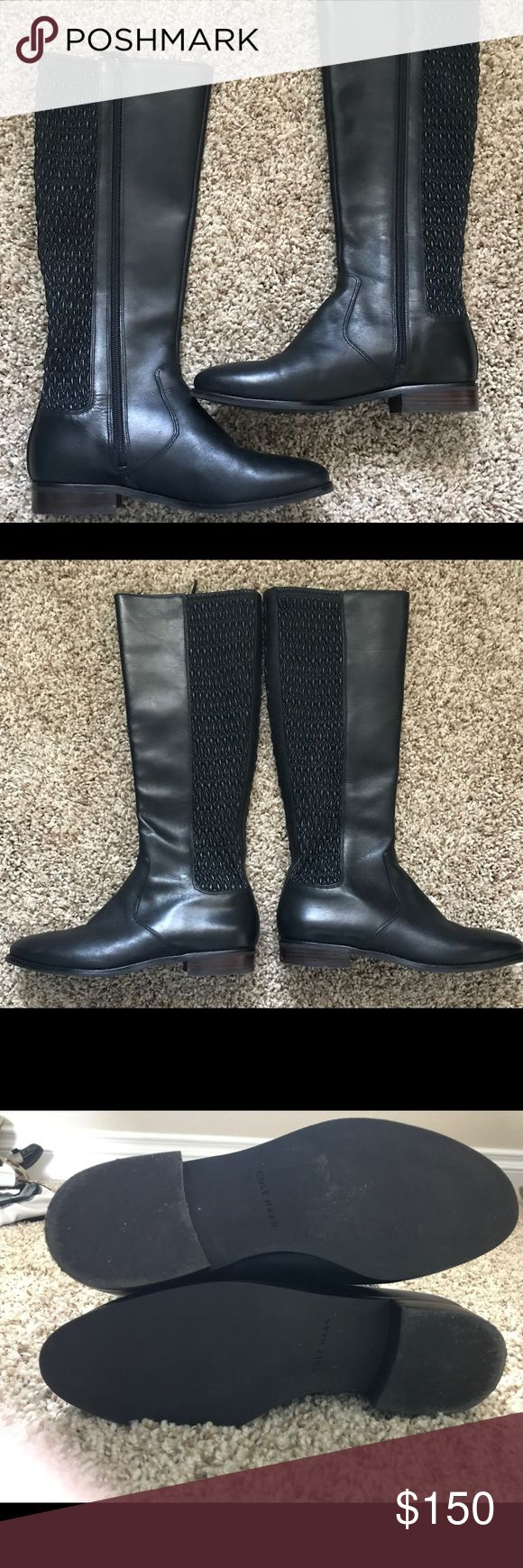 New Women's COLE HANN black leather boots size 7.5 New women's Rockland COLE HANN black leather boots SIZE 7.5 Floor display. Cole Haan Shoes Heeled Boots