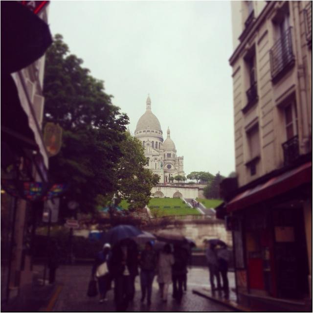 A rainy Paris today ...
