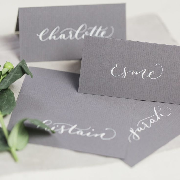 how to put guest names on wedding invitations%0A Beautiful handwritten calligraphy place cards that will add the finishing  touch to your wedding