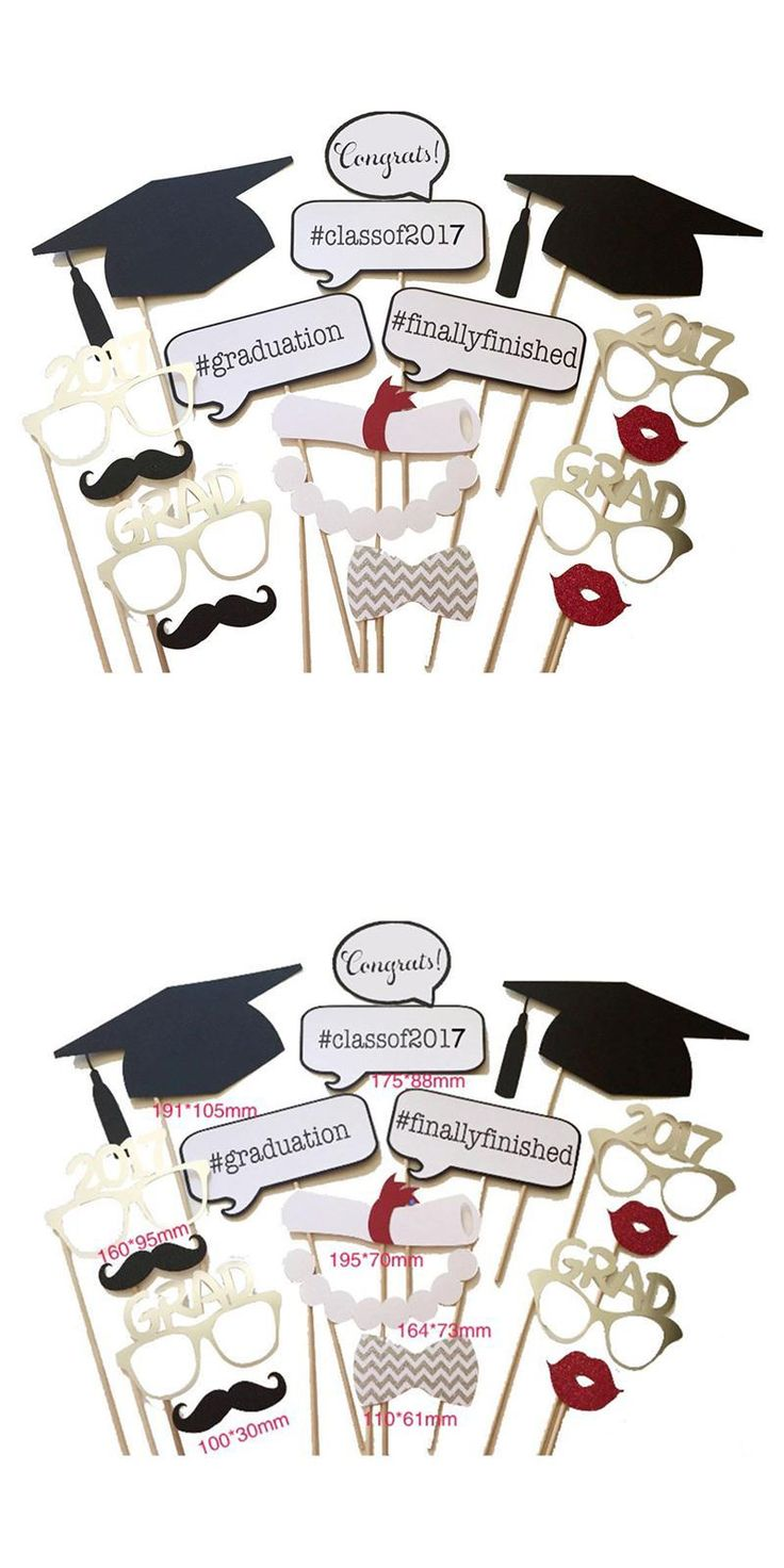 [Visit to Buy] 17pcs Mustache On A Stick Graduation Party Photo Booth Photo Booth Props Photos Booth For Graduation Party #Advertisement