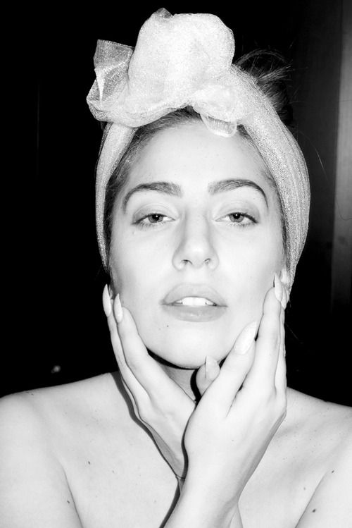 Gaga getting ready in her room by Terry Richardson
