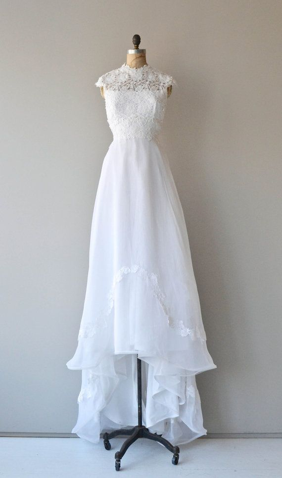 A fine romance wedding gown 1970s wedding dress lace for 1970 s style wedding dresses