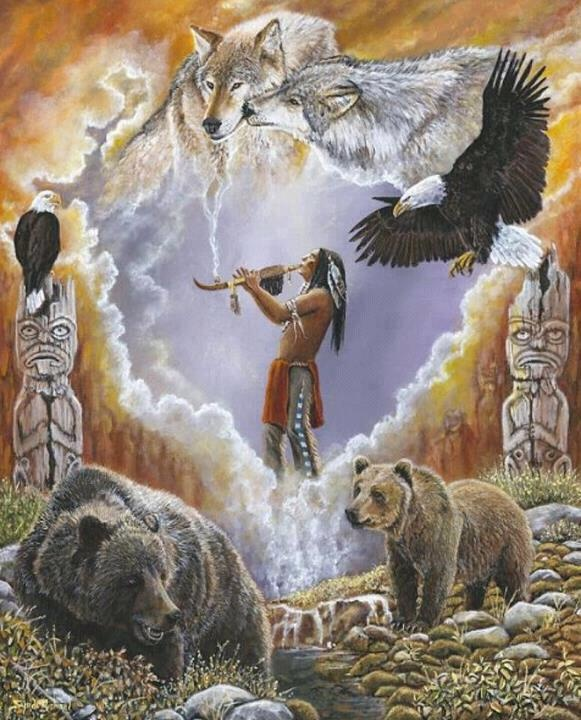 He plays his flute for them and they come... The Native American Connection can not be denied.