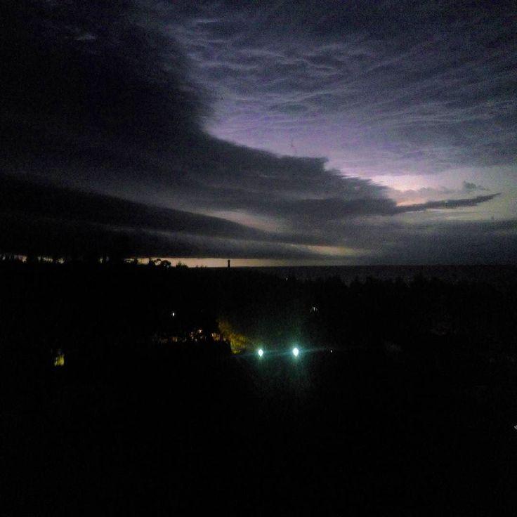 Shared by oneway2freedom #thunderdome #gabbermadness (o) http://ift.tt/1SXMHxz at 1 AM.  We love South America for atmospheric phenomen.  #storm #night #coloniadelsacramento #uruguay #visituruguay #visitsouthamerica #burza #lights #błysk #piorun #colors  #urugwaj #amerykapoludniowa #podroze #kochampodroze #blogtroterzy #instastorm #instaburza #backpackers #instatravel #nofilter #phenomenon #awesome #watchit #klubpolek #zjawisko #fenomen