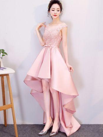 Skinny Embroidery Contrast Pink O-Neck Sleeveless Mini Dresses